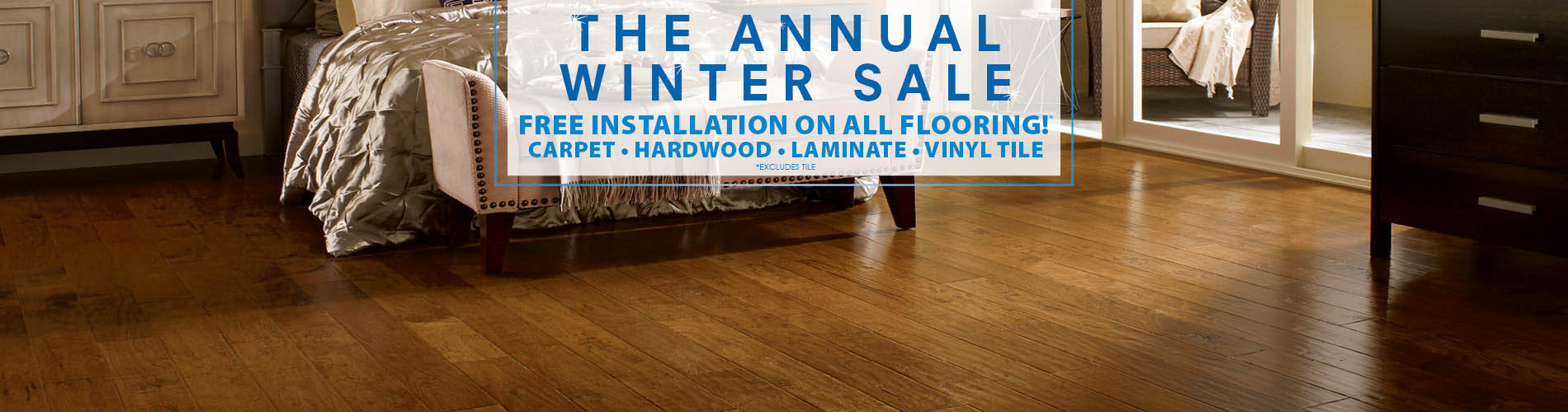 Save huge at Anniston Floors To Go during our annual winter sale this month!