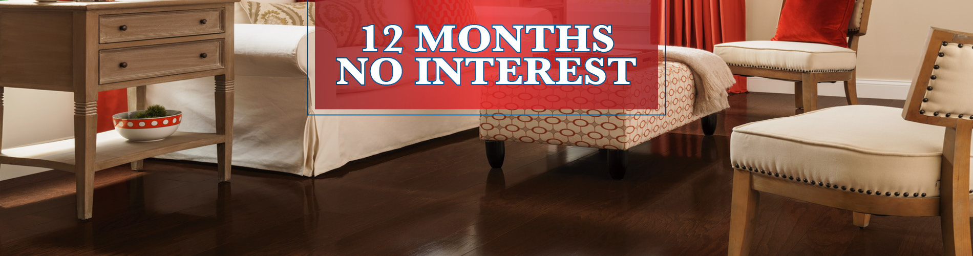 12 months interest free financing available at Anniston Floors To Go!