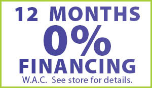 0% Financing for 12 months during Anniston Floors To Go's Anniversary sale!