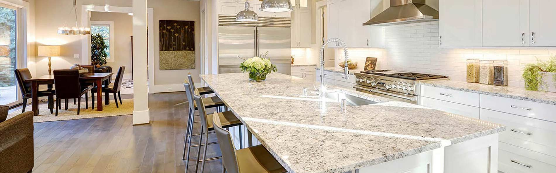 We carry a large selection of granite countertops at Anniston Floors To Go.