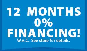 12 months 0% financing at Floors To Go in Anniston!